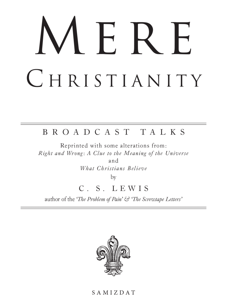 Mere christianity by cs lewis run the race 2085 fandeluxe Image collections